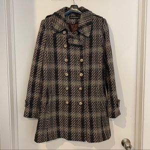 Simons Double-breasted Wool Tweed Coat size 12